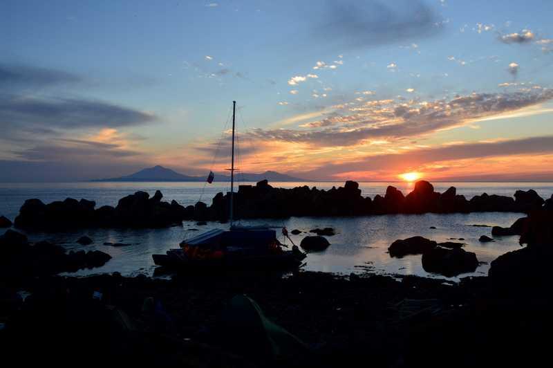Закат на южном берегу острова Итуруп
